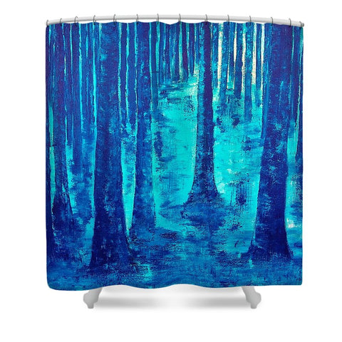 Blue Forest - Shower Curtain