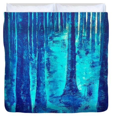 Image of Blue Forest - Duvet Cover