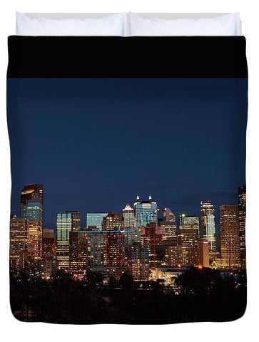 Image of Calgary Albert #canada - Duvet Cover - Queen - Duvet Cover