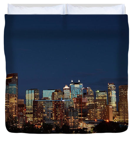 Image of Calgary Albert #canada - Duvet Cover - King - Duvet Cover