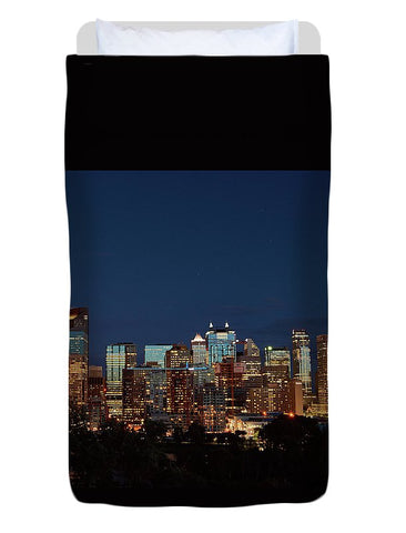 Image of Calgary Albert #canada - Duvet Cover - Twin - Duvet Cover