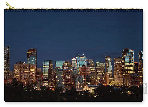 Image of Calgary Albert #canada - Carry-All Pouch - Large (12.5 X 8.5) - Carry-All Pouch