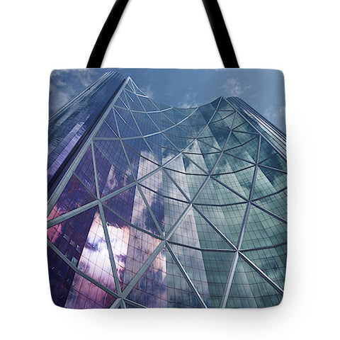 Image of Calgary Downtown In #canada - Tote Bag - 18 X 18 - Tote Bag