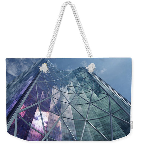 Image of Calgary Downtown In #canada - Weekender Tote Bag - 24 X 16 / White - Weekender Tote Bag