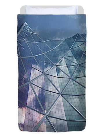 Image of Calgary Downtown In #canada - Duvet Cover
