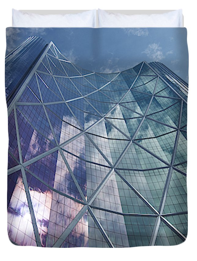 Calgary Downtown In #canada - Duvet Cover - Queen - Duvet Cover