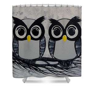 Chouettes Hiboux - Shower Curtain