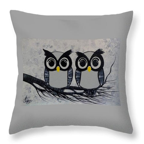 Chouettes Hiboux - Throw Pillow