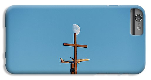 Cross Moon And Airplane - Phone Case - Iphone 8 Plus Case - Phone Case