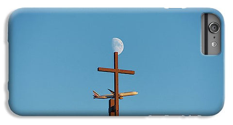 Image of Cross Moon And Airplane - Phone Case - Iphone 8 Plus Case - Phone Case