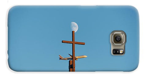 Image of Cross Moon And Airplane - Phone Case - Galaxy S6 Case - Phone Case