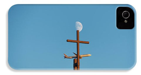 Image of Cross Moon And Airplane - Phone Case - Iphone 4 Case - Phone Case