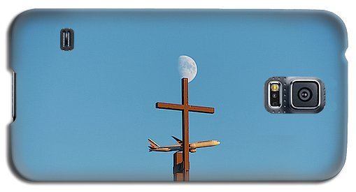 Cross Moon And Airplane - Phone Case - Galaxy S5 Case - Phone Case