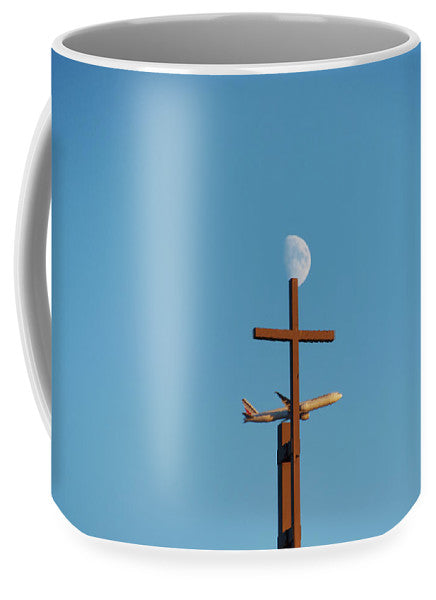 Croix Lune Et Avion - Tasse - Grand (15 Oz.) - Tasse