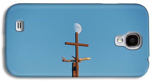 Cross Moon And Airplane - Phone Case - Galaxy S4 Case - Phone Case