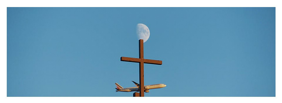 Cross Moon And Airplane - Yoga Mat - Yoga Mat
