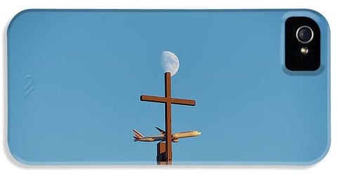 Image of Cross Moon And Airplane - Phone Case - Iphone 5S Case - Phone Case
