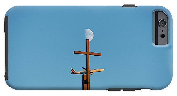 Cross Moon And Airplane - Phone Case - Iphone 6 Tough Case - Phone Case