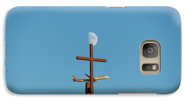 Cross Moon And Airplane - Phone Case - Galaxy S7 Case - Phone Case