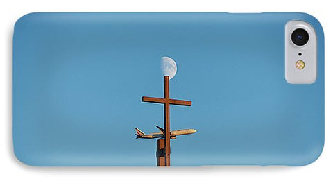 Image of Cross Moon And Airplane - Phone Case - Iphone 8 Case - Phone Case
