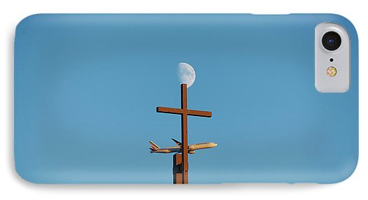 Cross Moon And Airplane - Phone Case - Iphone 7 Case - Phone Case
