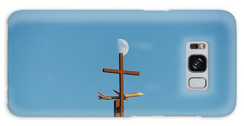 Image of Cross Moon And Airplane - Phone Case - Galaxy S8 Case - Phone Case