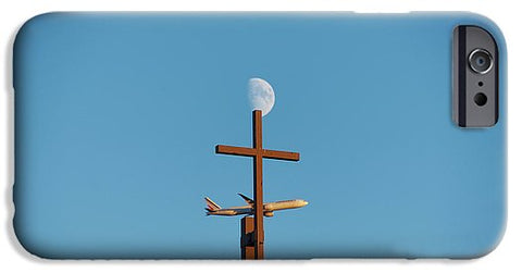 Image of Cross Moon And Airplane - Phone Case - Iphone 6S Case - Phone Case