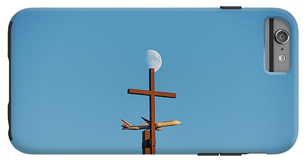 Cross Moon And Airplane - Phone Case - Iphone 6S Plus Tough Case - Phone Case