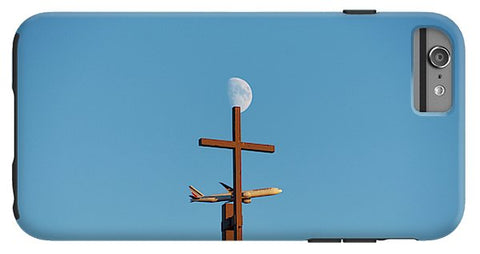 Image of Cross Moon And Airplane - Phone Case - Iphone 6S Plus Tough Case - Phone Case