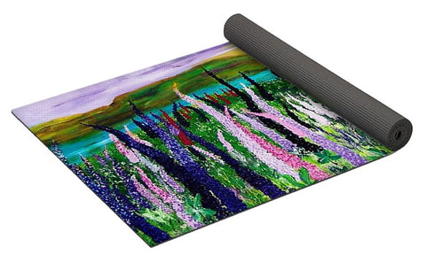 Field With Lupins - Tapis de yoga