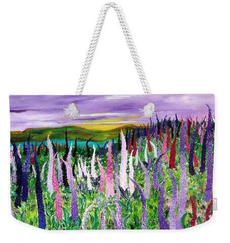 Image of Field With Lupines - Weekender Tote Bag