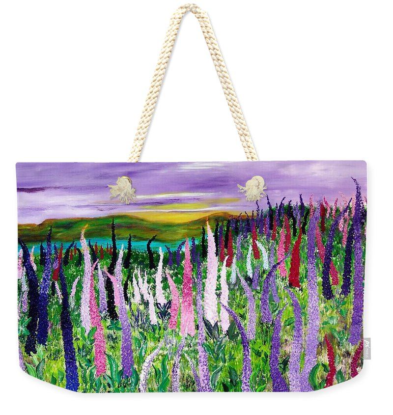 Field With Lupines - Weekender Tote Bag