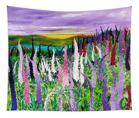 Image of Field With Lupines - Tapestry