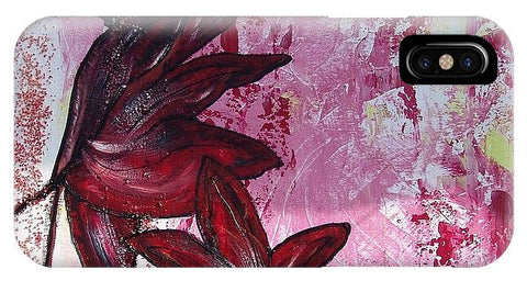 Flowers In Redblack - Phone Case