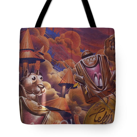 Image of Funny Graffiti In Montreal - Tote Bag - 18 X 18 - Tote Bag
