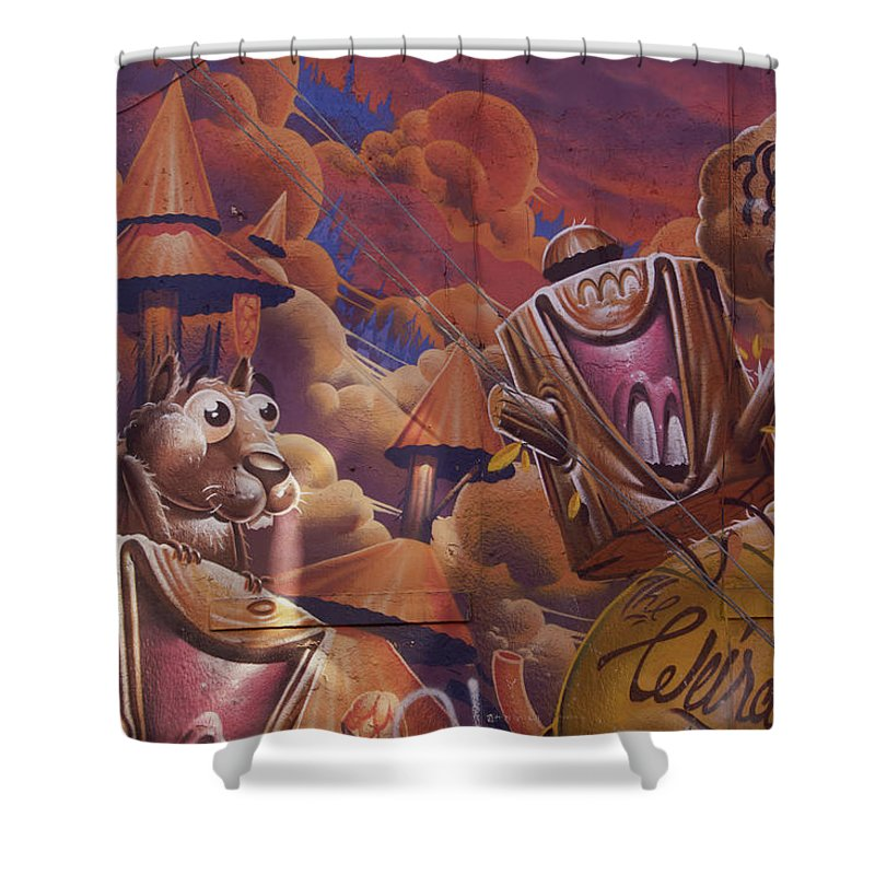 Funny Graffiti In Montreal - Shower Curtain - 71 X 74 Standard - Shower Curtain