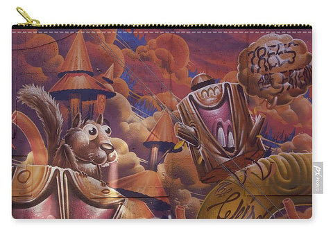 Image of Funny Graffiti In Montreal - Carry-All Pouch - Medium (9.5 X 6) - Carry-All Pouch