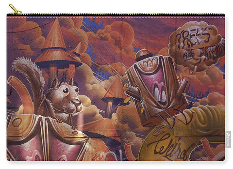 Image of Funny Graffiti In Montreal - Carry-All Pouch - Large (12.5 X 8.5) - Carry-All Pouch