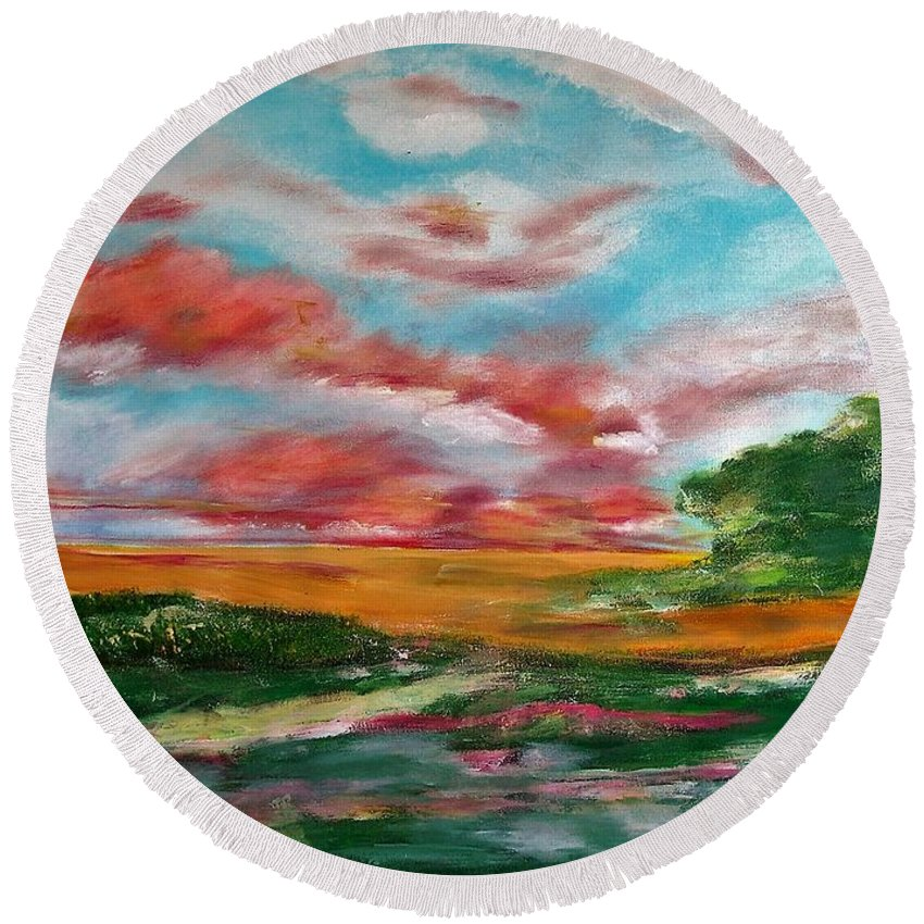 God's Window - Round Beach Towel