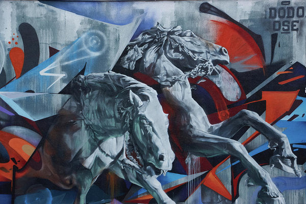 Graffiti Horses In #montreal - Art Print