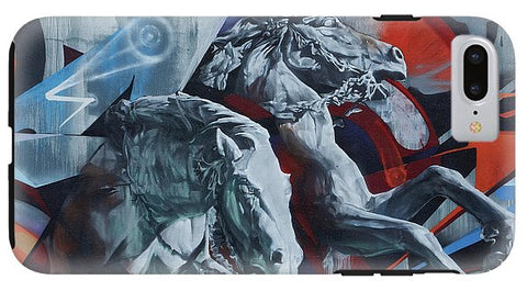 Image of Graffiti Horses In #montreal - Phone Case