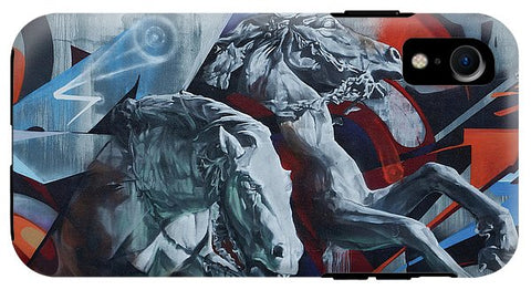 Image of Graffiti Horses In #montreal - Phone Case - Iphone Xr Tough Case - Phone Case