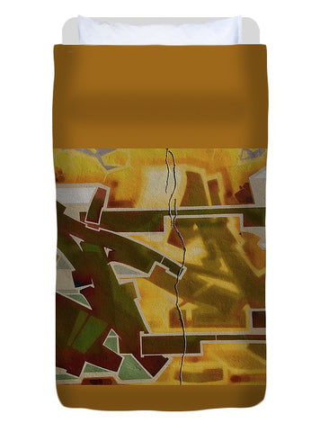 Image of Graffiti In Montreal - Duvet Cover - Twin - Duvet Cover