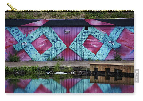 Image of Graffiti In #paris - Carry-All Pouch - Medium (9.5 X 6) - Carry-All Pouch