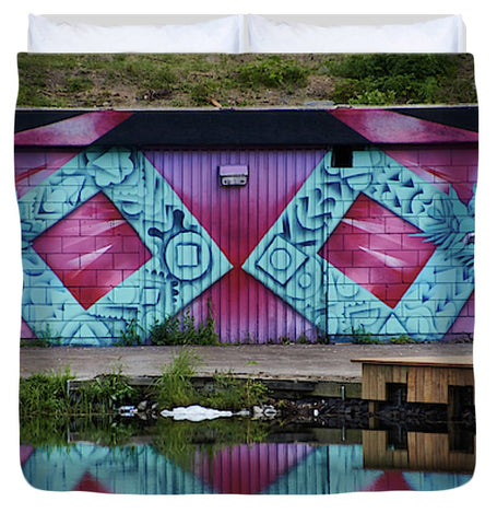 Image of Graffiti In #paris - Duvet Cover - King - Duvet Cover