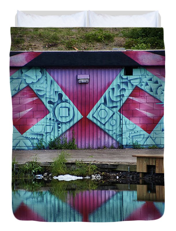 Graffiti In #paris - Duvet Cover - Full - Duvet Cover