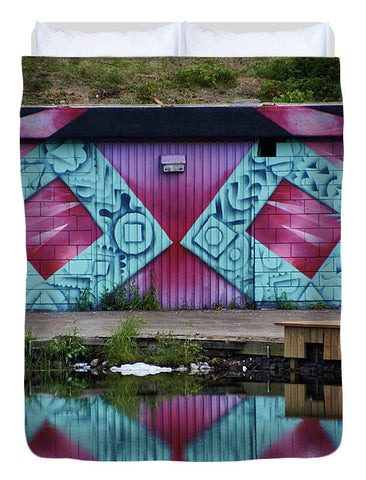 Image of Graffiti In #paris - Duvet Cover - Full - Duvet Cover