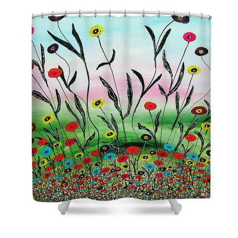 Growing To The Light - Shower Curtain