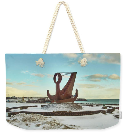 Image of Iceland - Weekender Tote Bag - 24 X 16 / Natural - Weekender Tote Bag