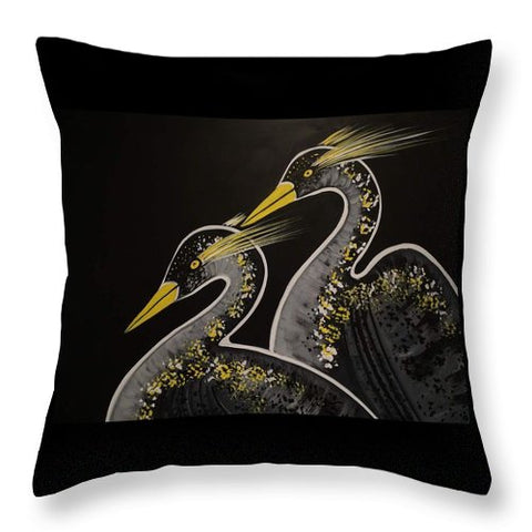 La Danse Des Herons - Throw Pillow